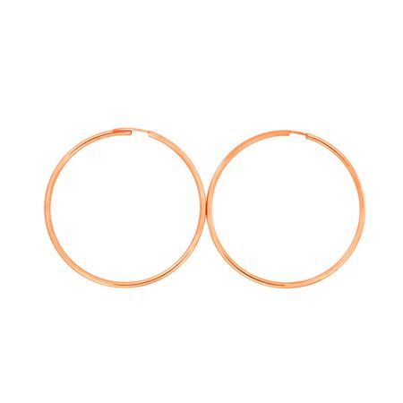Azendi Rose gold plated silver hoops 5cm