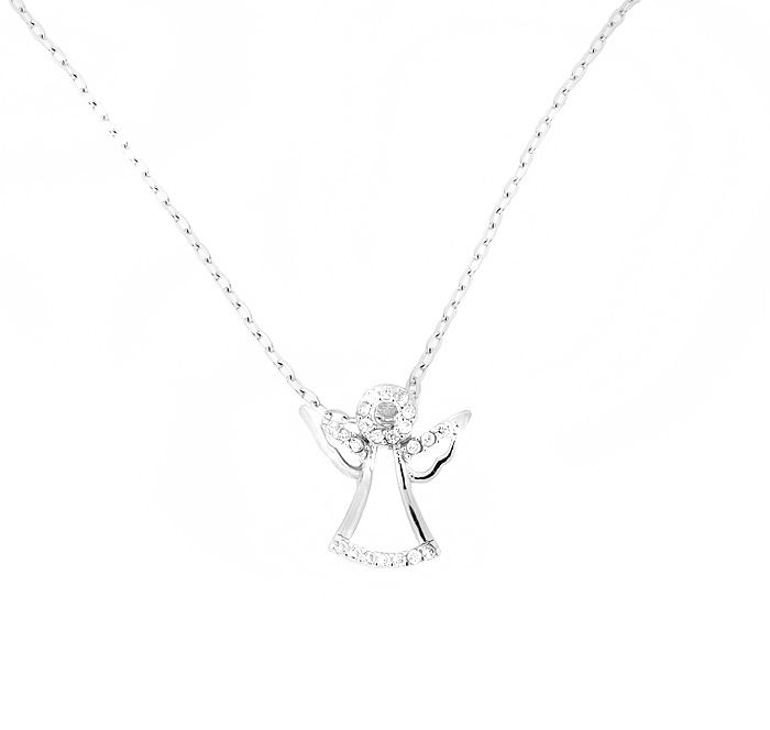 Sterling silver angel pendant
