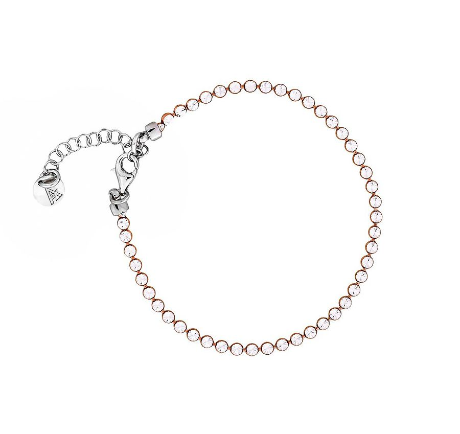 Sparkling silver bracelet with rose gold vermeil