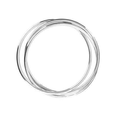 Azendi Sterling silver russian wedding bangle