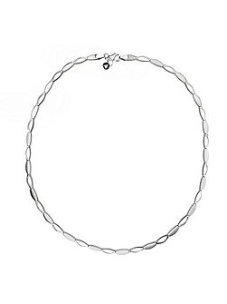 Silver ovals link necklace