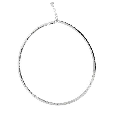 Azendi Sterling silver hammered collar
