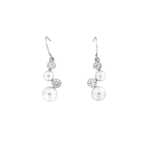 Azendi Pearl Cascade Drop Earrings