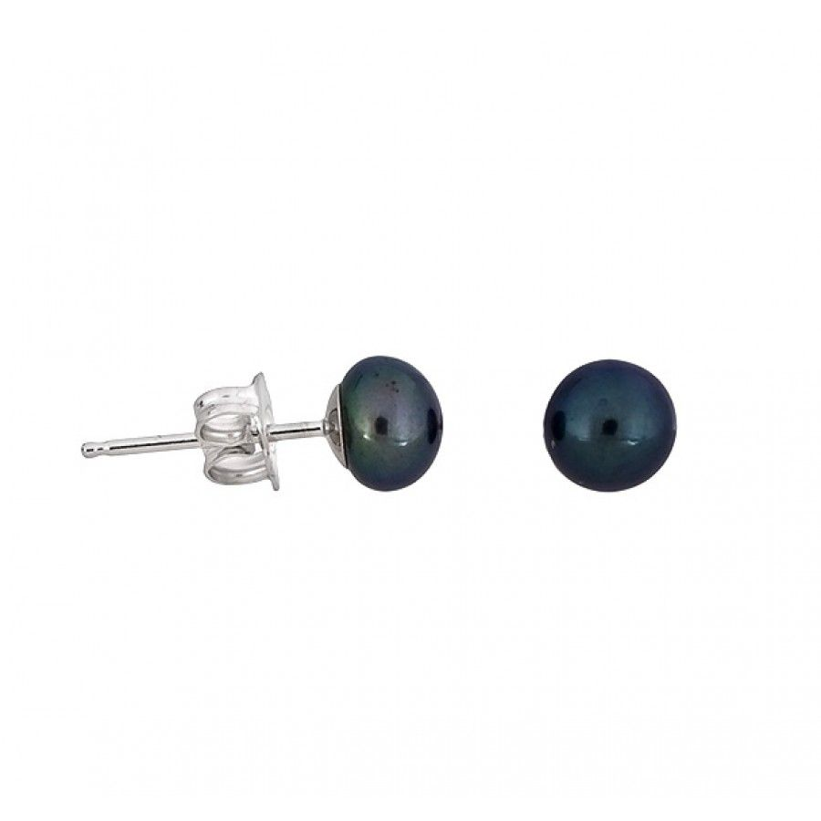 azendi peacock pearl stud earrings  6mm