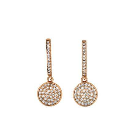 Azendi Rose Vermeil Pavé Drop Earring