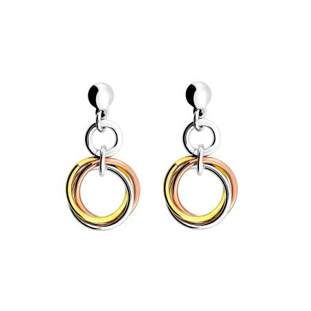 Azendi Three colour love knot drop earring