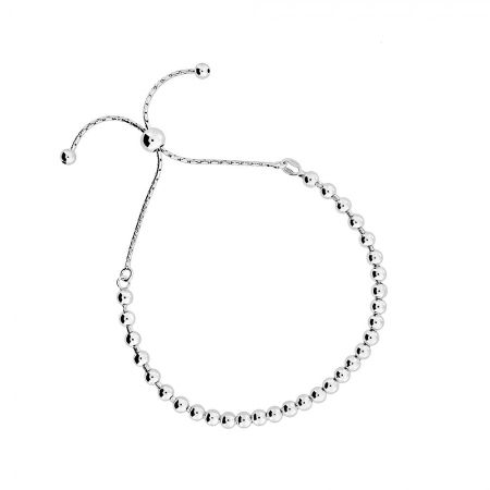 Azendi Silver adjustable bead bracelet