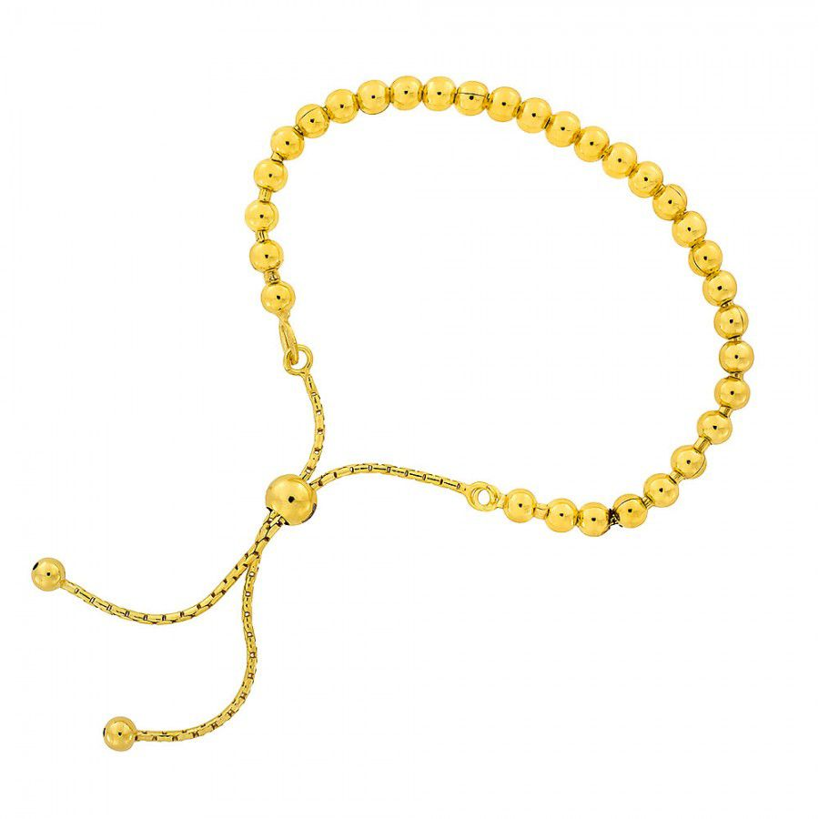 Azendi Silver And Gold Vermeil Adjustable Bead, N/A