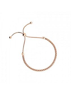 Rose vermeil adjustable chain bracelet