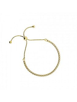 Gold vermeil adjustable chain bracelet