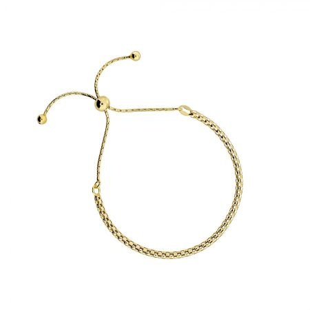 Azendi Gold vermeil adjustable chain bracelet