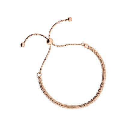 Azendi Rose vermeil adjustable flat bracelet