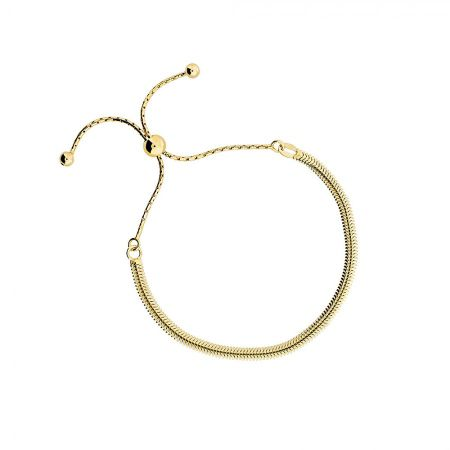 Azendi Gold vermeil adjustable flat bracelet