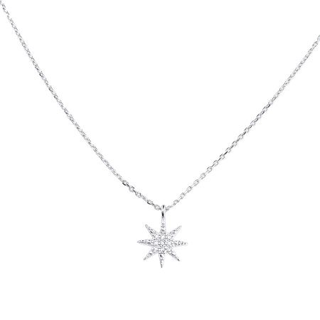 Azendi Sterling silver north star pendant