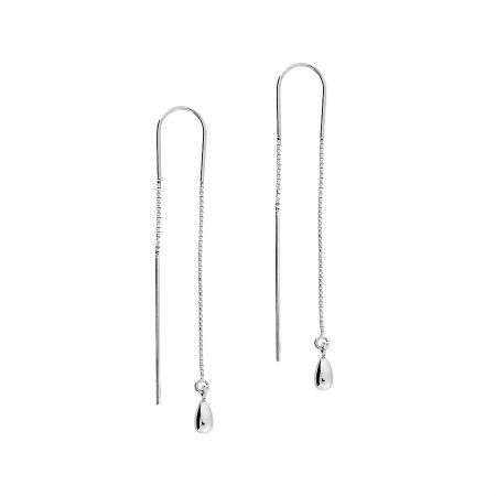 Azendi Teardrop pull-through earrings