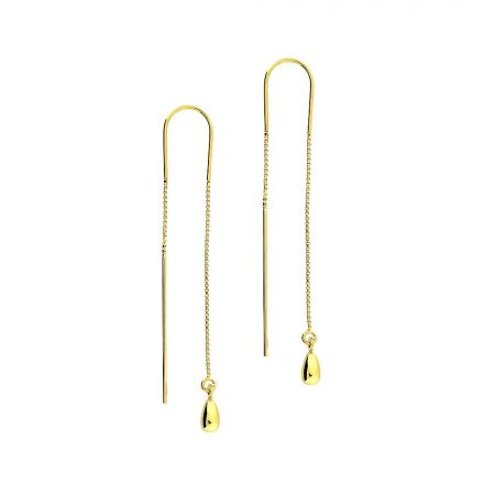 Azendi Gold vermeil teardrops earrings