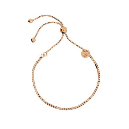 Azendi Rose box chain adjustable bracelet