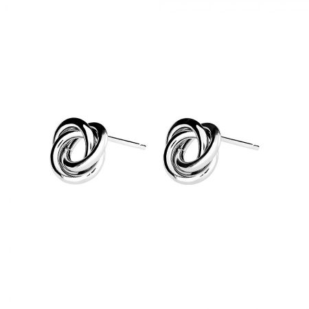 Azendi Sterling silver knot stud earrings