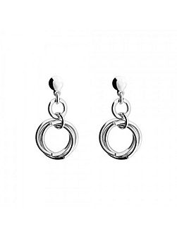Silver Love Knot Drop Earring