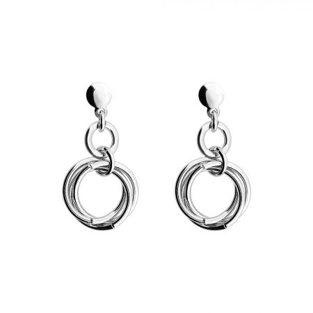 Azendi Silver Love Knot Drop Earring