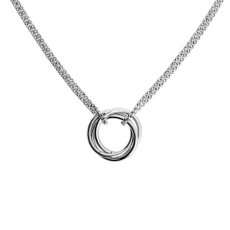 Azendi Silver Love-Knot Necklace
