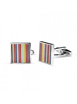 Colourful stripes cufflink