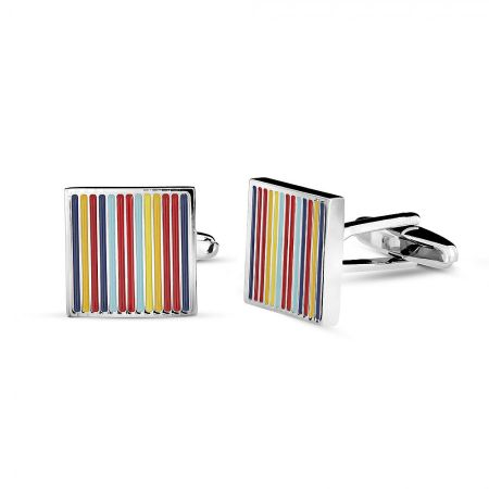 Azendi Colourful stripes cufflink