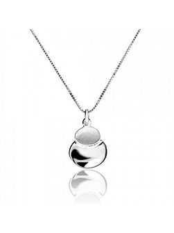 Silver twin ovals pendant