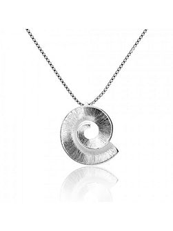 Silver frosted spiral pendant