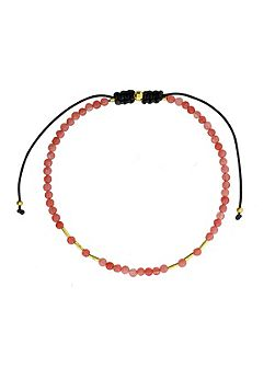 Rose agate friendship bracelet