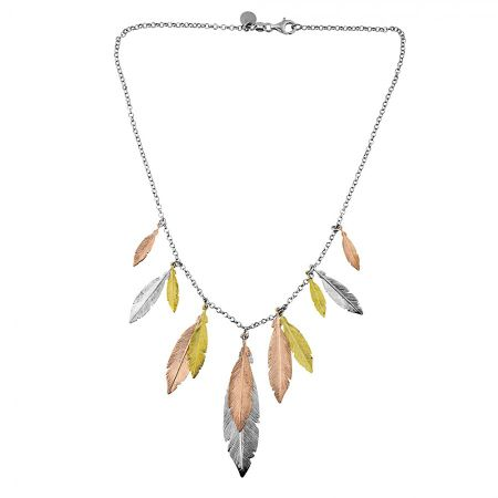 Azendi Multi Feather Necklace