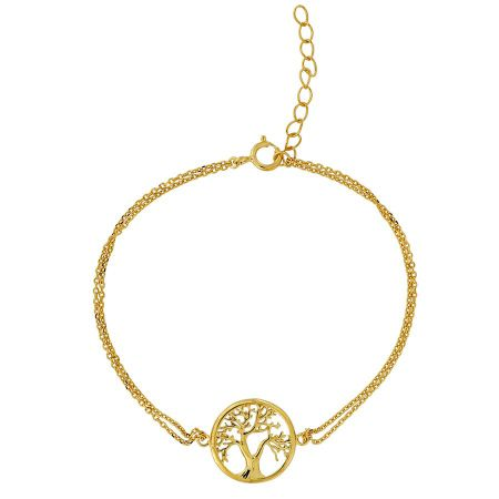 Azendi Gold vermeil tree of life bracelet