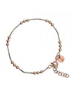 Rose Vermeil Triple Ball Chain Bracelet