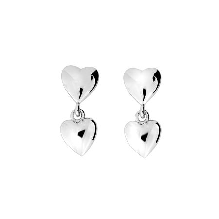 Azendi Heart Drop Earring