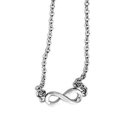 Azendi Silver Infinity Necklace