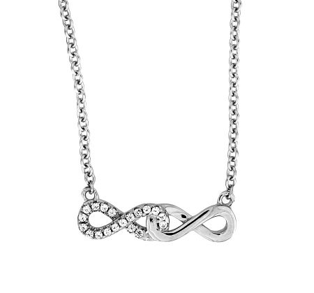 Azendi Double Infinity Necklace
