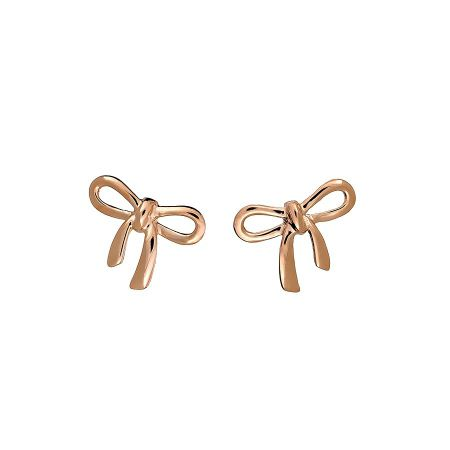 Azendi Rose vermeil bow stud earrings