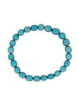 Turquoise pearl stretch bracelet