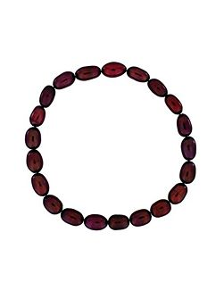 Red pearl stretch bracelet