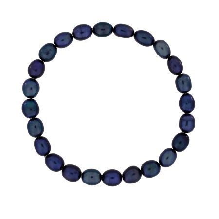 Azendi Blue pearl stretch bracelet