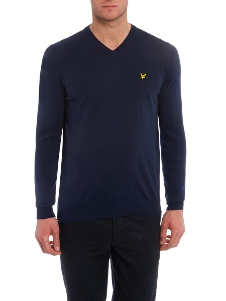 Lyle and Scott V neck classic cotton jumper