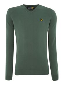 Crew neck classic cotton jumper