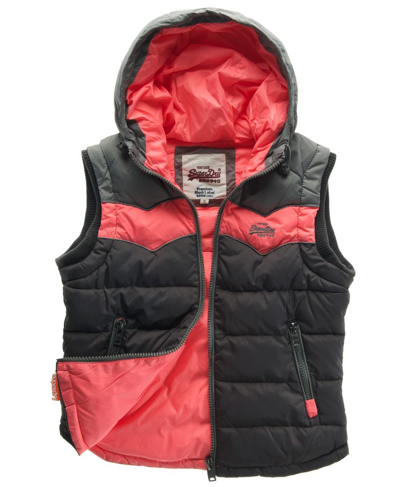Retro hooded gilet