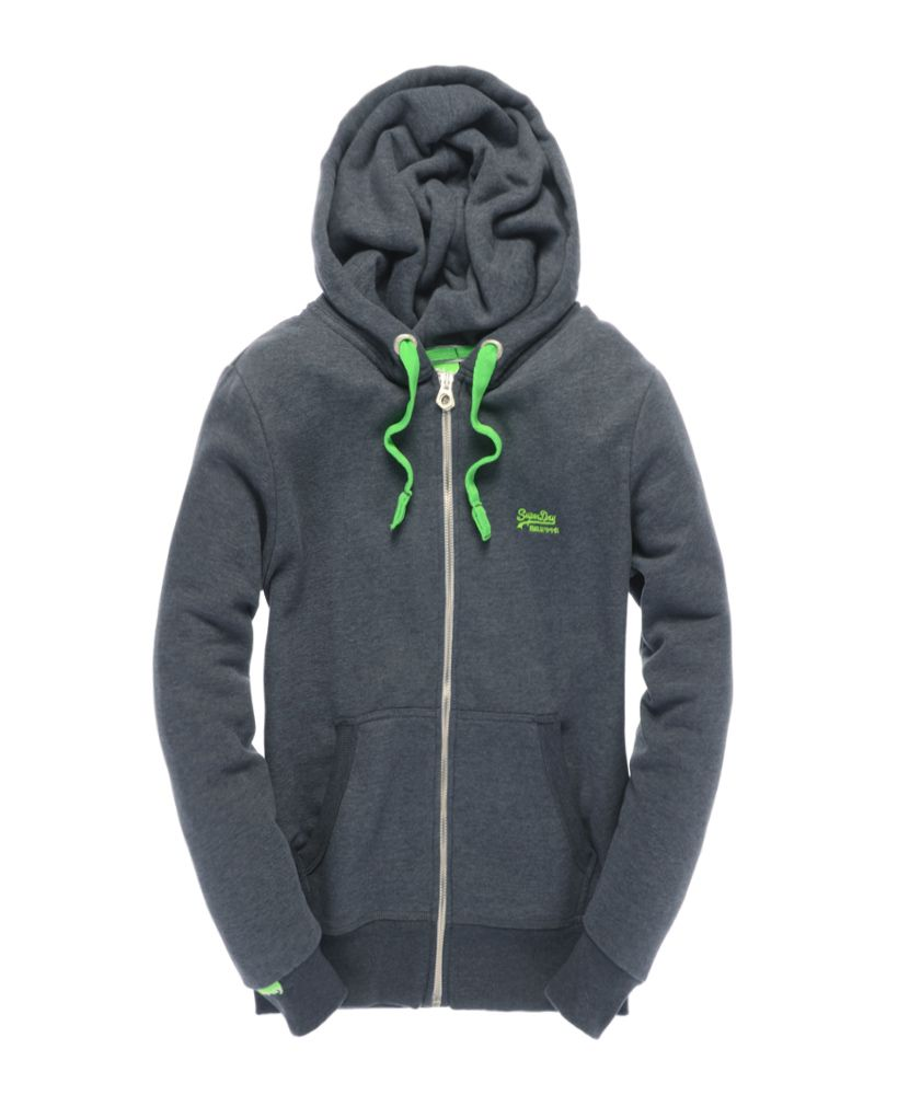 Pop colour zip hood