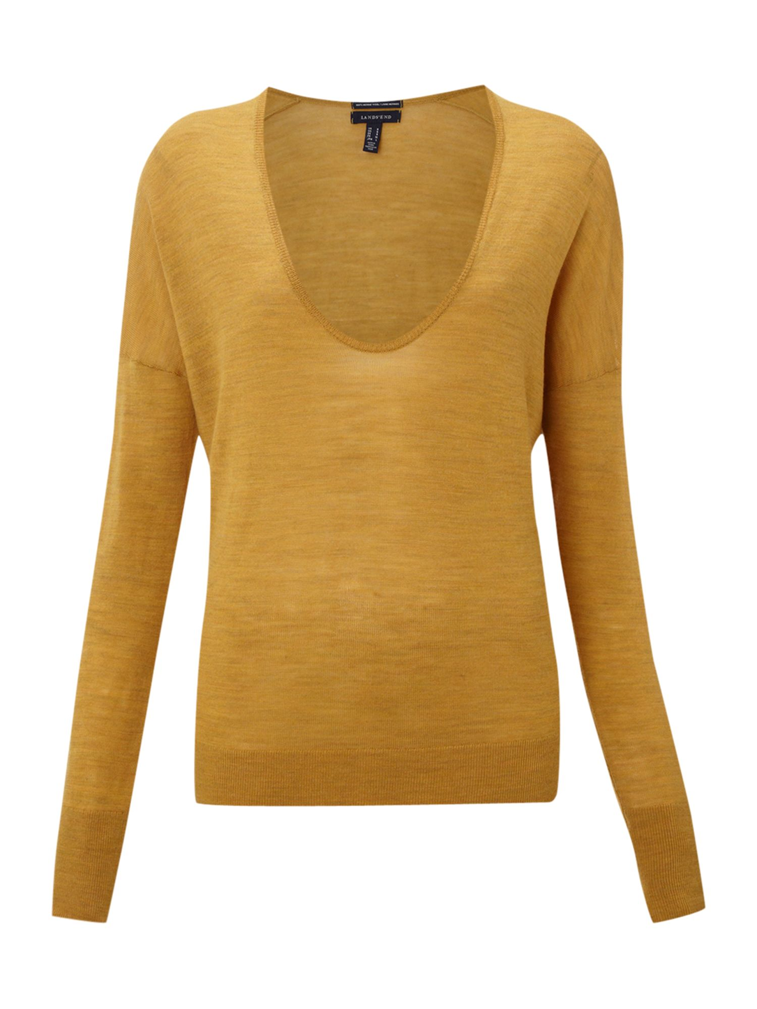 Womens merino plain deep v-neck
