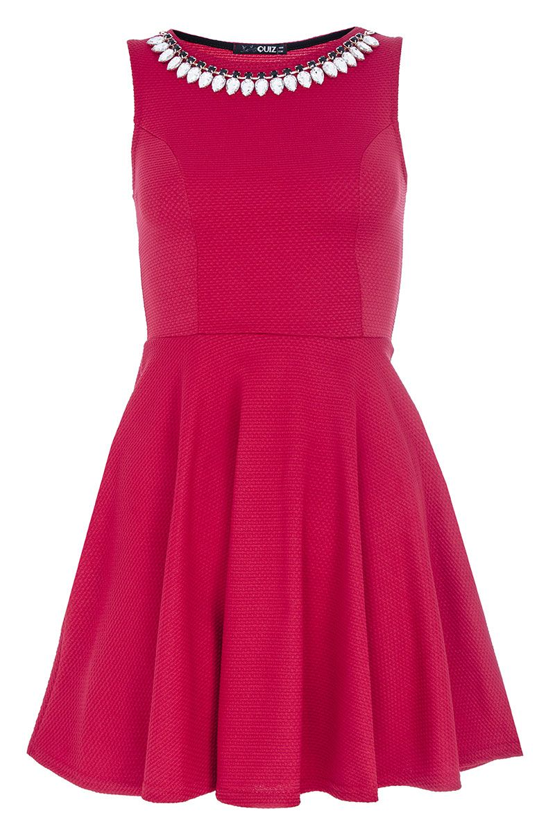 Necklace skater dress