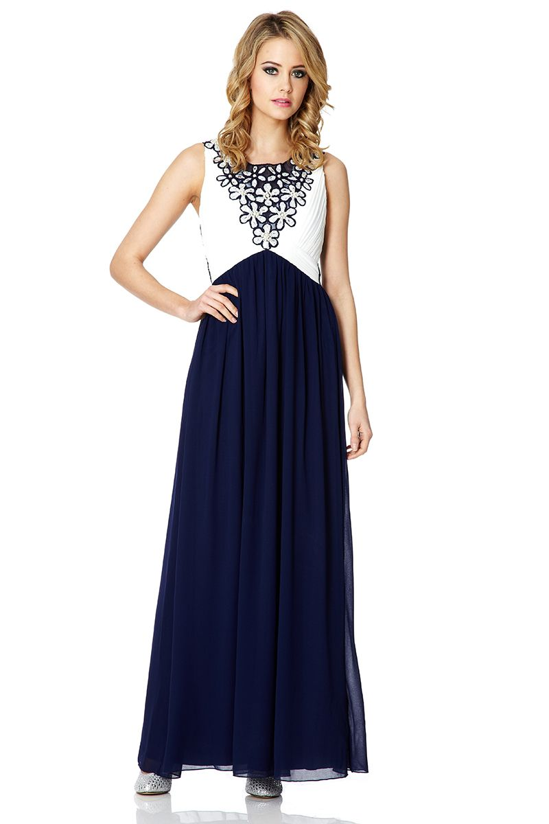 Chiffon embellished maxi dress