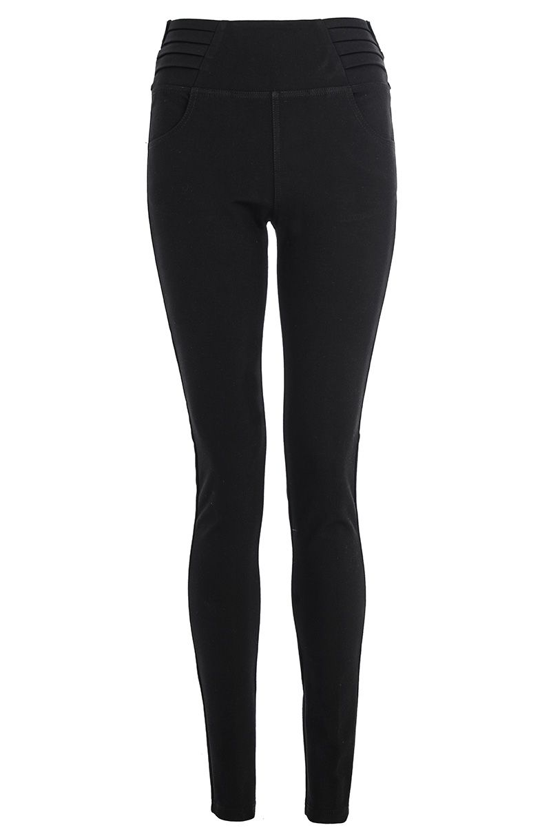 Pleat detail jeggings