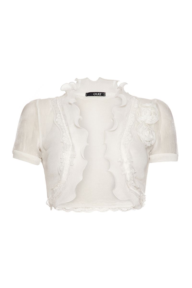 Organza flower shrug