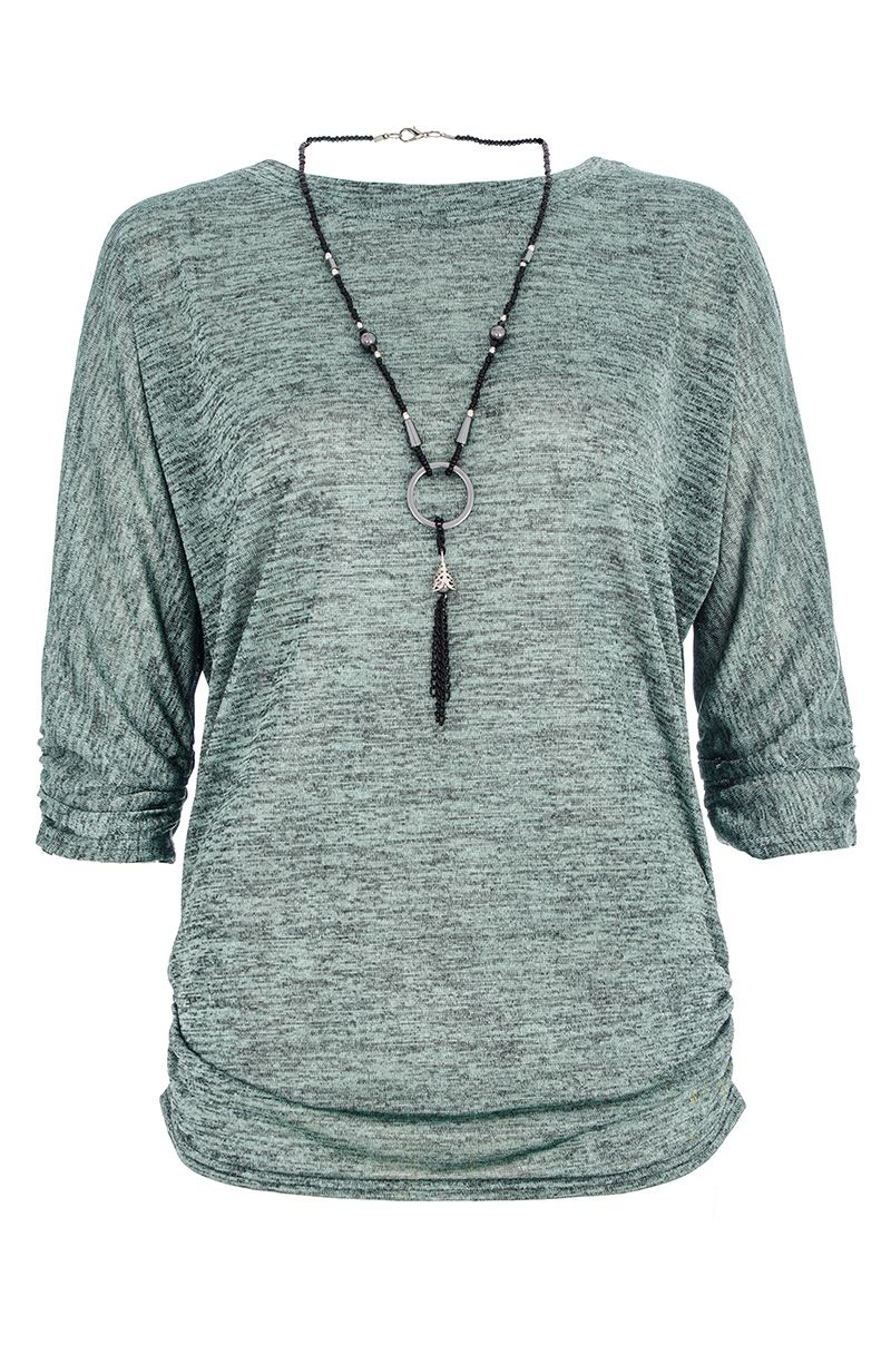 Slinky necklace top